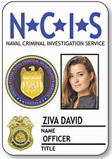 NAME BADGE HALLOWEEN COSTUME ZIVA DAVID SPECIAL AGENT NCIS SAFETY PIN BACK