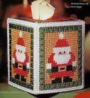 SANTA TISSUE COVER CHRISTMAS PLASTIC CANVAS PATTERN INSTRUCTIONS
