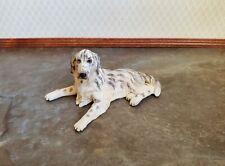 Dollhouse Miniature Dog English Setter Black & White 1:12 Scale Pet Animal