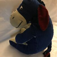 "Plush Stuffed Soft Eeyore Corduroy 12"" from Winnie the Pooh Disney"