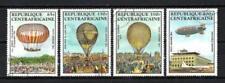 Ballons et Dirigeables Centrafrique (16) série complète de 4 timbres oblitérés