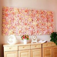 40X60cm Artificial Silk Rose Flower Wall Panel Hanging Wedding Venue Home Decors