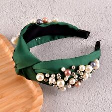 Green Knotted Solid Color Headband