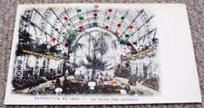 Paris Exposition Universelle 1900 World Fair Glitter & Spangles Postcard