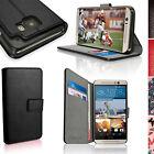 Custodia Eco PU Pelle Portafoglio per HTC One M9 2015 Case Flip Cover Pellicola
