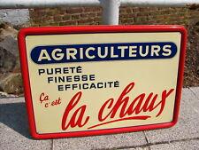 Plaque émaillee - tole peinte - 50x36cm - Promotion de la chaux - 1955, francais
