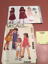Vintage Sewing Patterns Lot of 2 McCall's Butterick Girl Sz 2-6