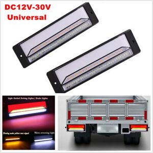 12V-30V Halo Neon Flowing 3W LED Light Trailer Truck Turn Signal Brake Tail Lamp