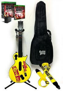 Xbox One Rock Band 4 SEX PISTOLS Gibson Wireless Guitar,LegacyAdapter,Strap,Game