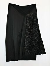 breathless Brand Women's Black Rose Lace Wrap Skirt Size 6 LIKE  NEW #SJ20