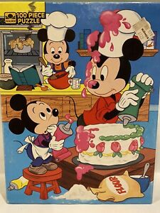 Golden Mickey Mouse BAKING 100 Piece Jigsaw Puzzle SEALED Vintage Disney 4649-42