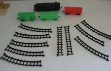 Lot Plastic Trains & Track Locomotive Boxcar Vintage Toys