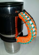 Paracord Handle for 40oz,30oz, or 20ozYeti Ozark & Rtic Miami Dolphins Colors