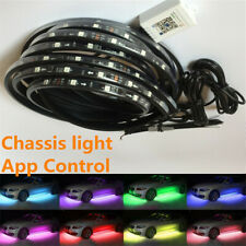 12V App Colorful Chassis Lamp LED Strip Car Tube Under glow/body Neon Light 4Pcs