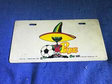 "Mexico 1986 Fifa Wolrd Cup mascot ""Pique"" License Plate"
