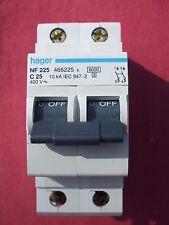 Réf NF225 OU NFN225 DISJONCTEUR HAGER 2P 25A 6/10kA COURBE C 230;400V NEUF