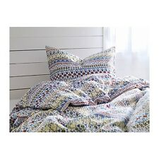 IKEA Duvet King Quilt Cover and 2 King Pillowcases BIRGIT SPETS Multicolor NEW