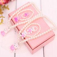 Children Girls Princess Baby Beads Necklace&Bracelet&Ring Set Jewelry Gift VQ MC