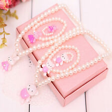 Children Girls Princess Baby Beads Necklace&Bracelet&Ring Set Jewelry Gift KY