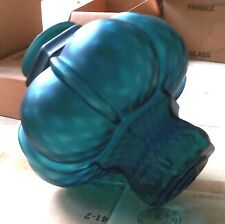 MCM SWAG Shade NOS Closed Factory Find Teal Green Glass Diamond Optic #2