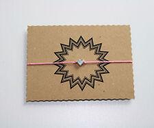 Herz Glücksarmband Glücksbringer Armband Tibet Silber Rosa verstellbar 25 cm