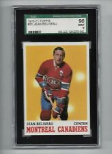 1970 Topps #55 Jean Beliveau HOF, SGC 96 MINT 9, Montreal Canadiens NHL 1970-71