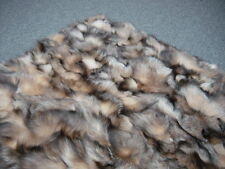 DYED SILVER CRYSTAL FOXBELLIES  REAL FUR BEDSPREAD THROW RUG BLANKET BRAND NEW