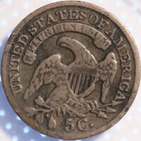 1830 CAPPED BUST HALF DIME, NICELY CIRCULATED, ORIGINAL SURFACES, TONING!
