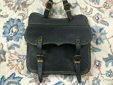 Vintage Leather Horse Riding Equestrian Saddle Bag - Brass Horseshoe Details