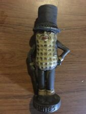 Mister Peanut Cast Iron Piggy Bank Toy Antique Style Patina Finish Collector F/g