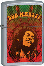 ZIPPO LIGHTER - BOB MARLEY GRAPHIC on STREET CHROME FINISH - ZO24991
