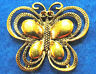 5Pcs. HUGE Tibetan Antique Gold BUTTERFLY Charms Pendants Jewelry Findings BF20