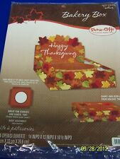 Autumn Leaves Fall Thanksgiving Holiday Party Gift Decoration Cupcake Bakery Box