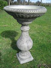 classic stone birdbath
