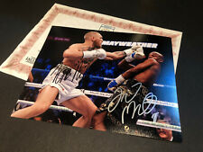FLOYD MAYWEATHER & CONER MCGREGOR SIGNED AUTHENTIC AUTOGRAPH WITH COA