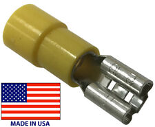 (100) 8 AWG Vinyl Insulated Female Quick Disconnect .250 Wire Terminal Connector