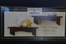 Interiors by Design 2 Shelf Set Espresso with  Box