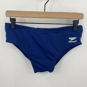 Speedo Size 34 Endurance+ Navy Blue Swim Brief Bottoms Style #805016