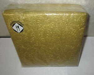 MESAFINA~40 Count CAMEO UNI GOLD Paper Luncheon Napkins 6.5 x 6.5 Inch