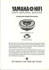 Yamaha Lautsprecher Begleit Information BDA Manual Prospekt NS 1000 FX 3