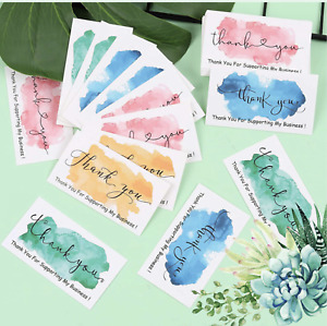 20PCS Thank You Card Thank You For Supporting My Small Business Watercolor Style