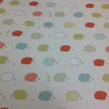 "Fryetts ""HEDGEHOGS "" 100% Cotton Fabric for Curtain/ Upholstery/Crafts"