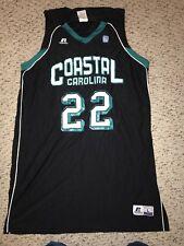 Coastal Carolina Chanticleers #22 Black Game Worn Basketball Jersey *L*