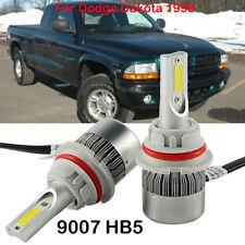 COM 9007 HB5 LED Headlight Kit Bulb For Dodge Dakota 1998 Hi/Low Beam 6000K 2PCS