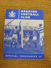 18/08/1962 Reading v Shrewsbury Town  (Score inside). Bobfrankandelvis the selle