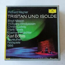 "Wagner Tristan & Isolde Nilsson Ludwig Bohm 3x 7"" Reel 4T 7 1/2 ips Tapes TESTED"