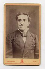 CDV Carte de visite PHOTO Homme MARIN NANTES Vers 1900 Moustaches Noeud Vintage