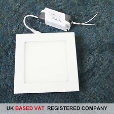 Blanco Cálido Panel LED Luz Cuadrada 9W con Reino Unido FACTURA COMPLETA