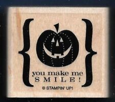 PUMPKIN YOU MAKE ME SMILE HALLOWEEN Drink Scary words Stampin' Up! RUBBER STAMP