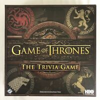 New Game Of Thrones Trivia Game HBO Fantasy Flight Games Open Box Sealed Parts